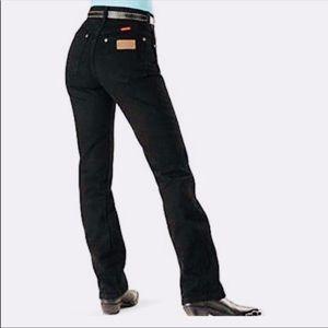 Wrangler Faded Black Slim Cowboy Fit Denim Jeans